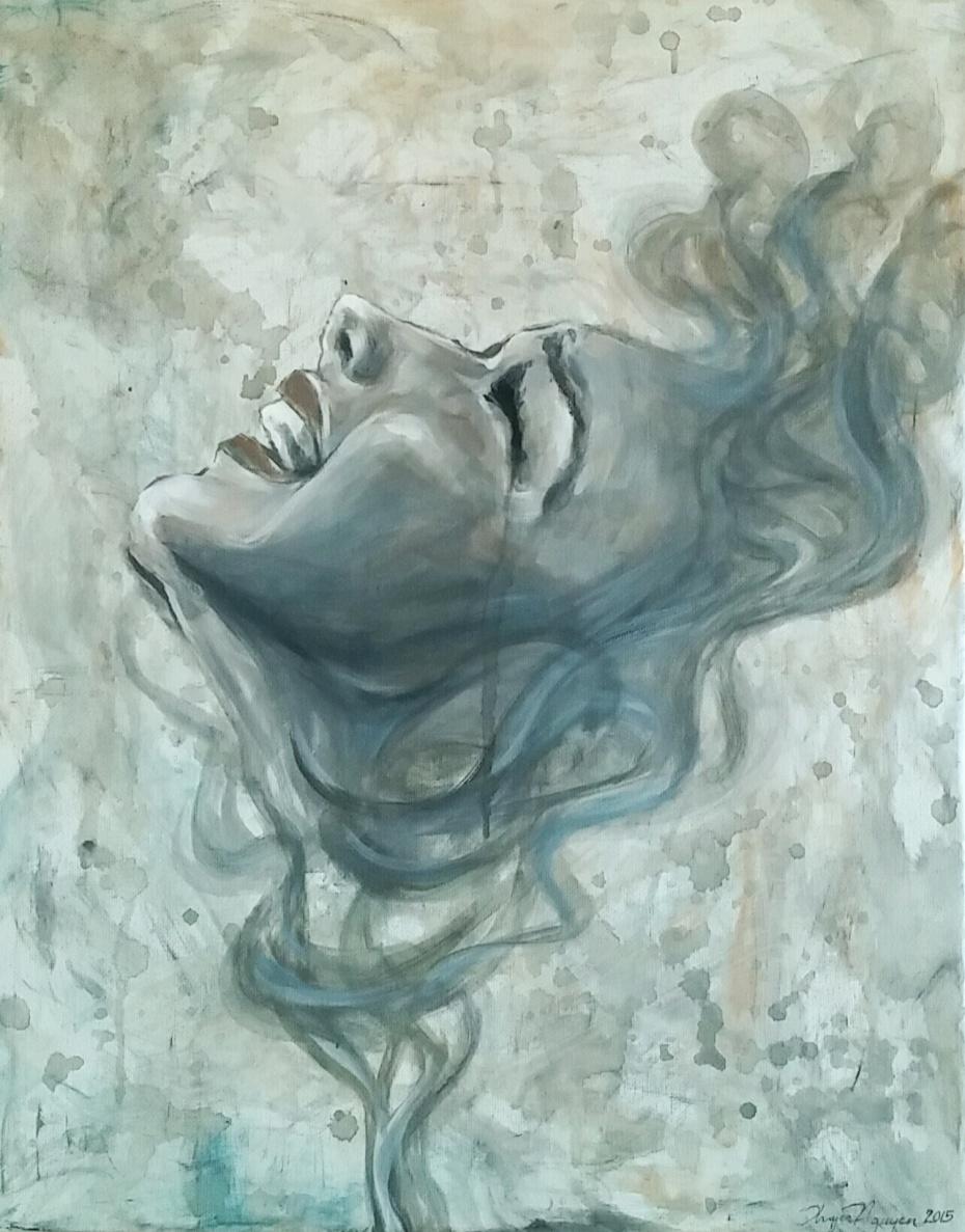 """Untitled,"" acrylic on 18x24 canvas. By Thuyen Nguyen."